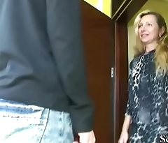 German MILF Seduce 18yr old Son from neighbor to Fuck