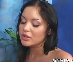 Classy hottie with small tits gets pleasure of being gangbanged