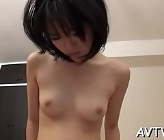 Stud fingers and toys japanese babe'_s curly beaver