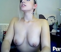 Lovense Toy Vibrating Pierced Nipples Camgirl Pussy