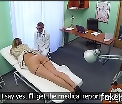 At final fascinating and hawt doctor reaches bright orgasm