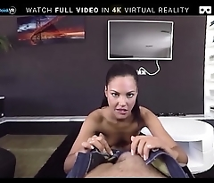 VR Porn Teen Strips and Gets Assfucked On BaDoink VR