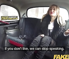 Fake Taxi Car park taxi fuck with sexy Russian wearing knee high boots
