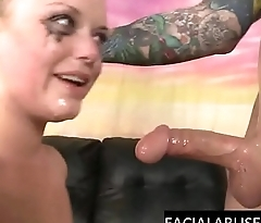 Mindy Deep throat and pussy roughed