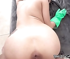 Curvy Maid Michelle Martinez Bends Over And Gets Fucked