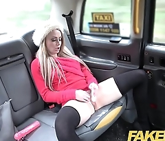 Fake Taxi Petite blonde takes dildo and cock