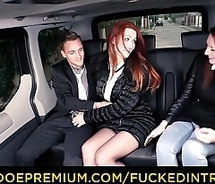 FUCKED IN TRAFFIC - Sexy Euro redhead Isabella Lui fucks in the car after ditching her friend