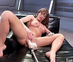 Machine MILF satisfied during solo session