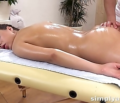 Anal Sex - Cute brunette Nikki Waine takes a creampie in her ass