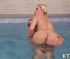 Peachy ladyboy gets her stretchy arse impaled on big dick