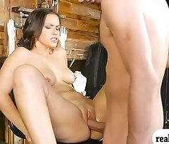 Gorgeous woman pounded for some money