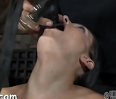 Gagged beauty with clamped teats gets wild enjoyment