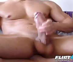 Markley - Flirt4Free - Faceless Muscle Stud Displays His Enormous Cock and Ripped Body