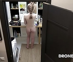 Czech ginger Alexandra - Hidden spy camera in bathroom