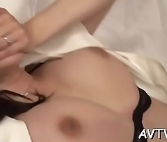 Raucous doggystyle drilling for pretty oriental babe