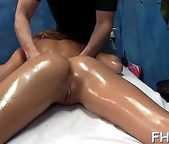 Hawt 18 year old girl gets drilled hard from behind by her massage therapist