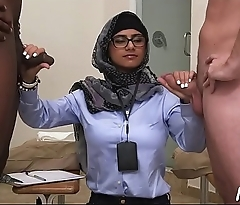Two lascivious arab babes take a lesson about vehement cock-sucking