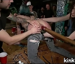 Busty sexy hot girl submits to punishment and anal slavery sex.