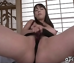 Sultry japanese arouses with oral-stimulation and tits fucking