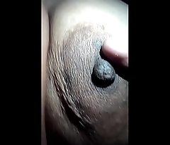 Playing with Wife boobs and nipple