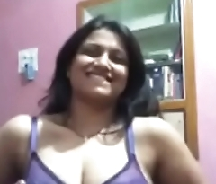 Desi aunty fingering in video chat