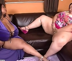 Bbw threesome, Cotton Candi and Anastasia Vanderbust