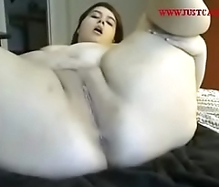 BBW Teen Fucking Herself Hard on Cam - watch more LIVE at www.justcam.site